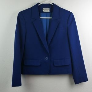 Miss PENDLETON Pure Virgin Wool Royal Blue Blazer